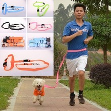 Cheapest Factory wholesale nylon running pet leash hands free dog leash for jogging