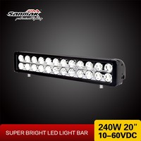 HOT SALE! Stainless bracket LED light bar cree 240w truck roof off road tractor light bar high lumen