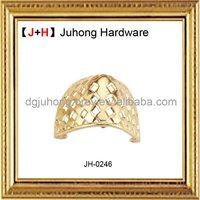 2012 Unique Golden Metal Shoe Accessories
