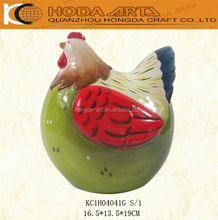 7 inch Europe Style Ceramic Chicken Garden Decoration Chicken