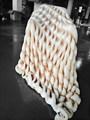 Decorativo moda hechos a mano Natural de la galleta diseño tirar las mantas, regalos de boda