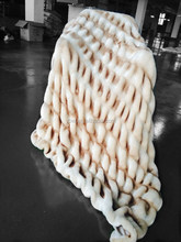 Decorative Fashion Natural Handmade Waffle Design Throw Blankets, Wedding Gifts
