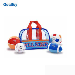 Custom Sport Bag Fill and Spill plush rugby ball stuffed football