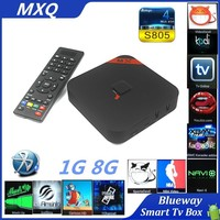 Smart android4.4 TV Box MXQ wth bluetooth Android 4.4 Google TV OEM/ODM wifi display smart tv box MXQ s805