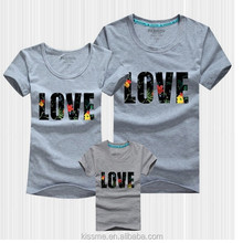 Summer fashin lovely t-shirt family fitted in yiwu city