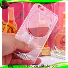 Flex crystal red wine glass TPU cover for iphone 6 case for other mobile phone