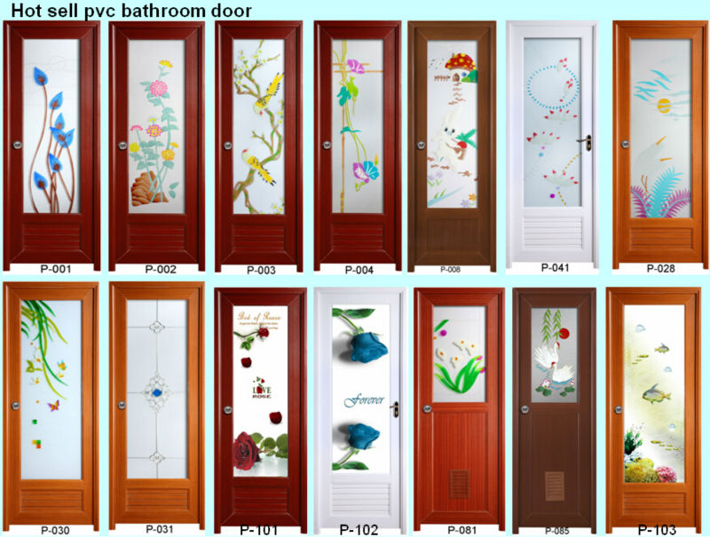 Wholesale 2014 Cheap Price Full Board Pvc Toilet Door