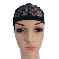 Beauties Factory Black Adjustable Straps DIY Wig Weaving Cap One Size Fit All Net Mesh Full Cap