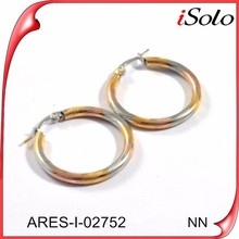 Wholesale circle gold filled earring hoop light weight gold earring