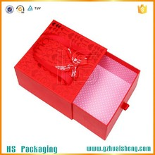 cosmetic paper packagings box/ custom printed sliding drawer box