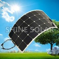 Factory direct 100w Mono-crystalline semi flexible solar panel china hot in selll