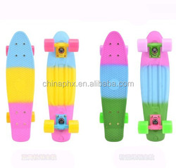 22 inch & 27 inch Children plastic and maple custom cruiser skate board With 4 LED Wheels