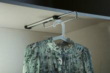Wardrobe hanging clothes rod