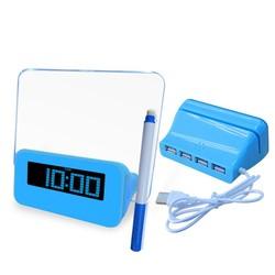 usb hub with memo board alarm clock