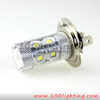 Super Bright LED lighting system Canbus T10 H7 S25 EPISTAR 3535SMD 50W with lens Error Free Auto fog light