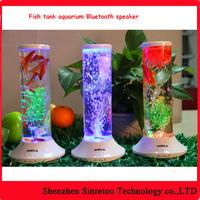 Romantic aquarium fish tank with LED light Bluetooth speaker