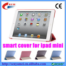 New popular ultrathin tablet computer smart cover for ipad mini
