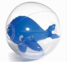 Top sale inflatables airblow ball with 3D toys animal inside gift premium