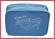 High quality custom Eye Shadow Eyeliner Professional Makeup Brush Set eco friendly cosmetic bag turquoise jute cosmetic bag