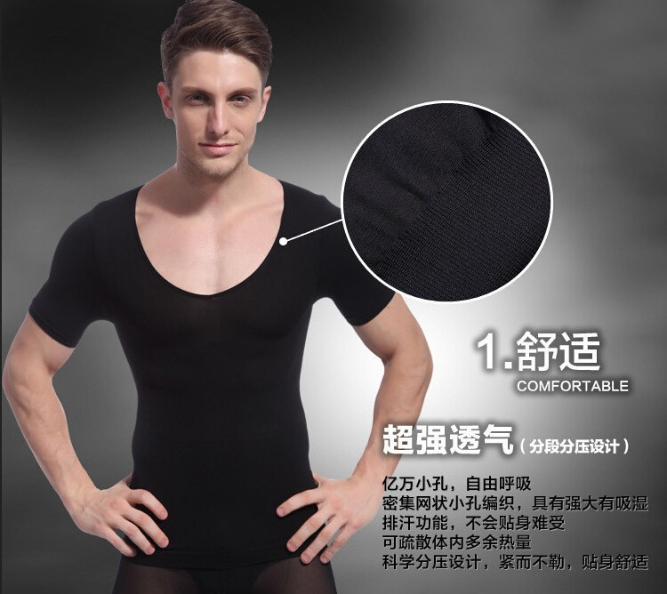 undershirt shirt men body shaper body girdles men cueca squeem Талия cдюймer cintos para homens cheap