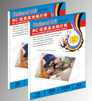 260gsm Roland Oji A4 preminum high glossy RC photo paper 20 sheets/pack