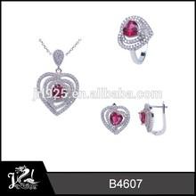 diseño de corazón rosa para siempre amor joyería juegos de joyería 2015