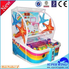 Amusement indoor children wonderful hotest coin operated basketball game mac