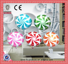 """Tide Candy Balloons Lollipops Swirl Peppermint Wedding Foil Party Decoration 18"""""""