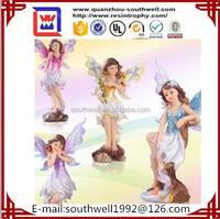 Mini polyresin flower fairy, baby angel dolls