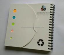 Custom Fancy Spiral NoteBook with colorful sticky note