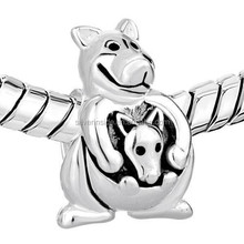 bead wholesalers in cape town DIY Charms Jewelry Wholesale Mother Daughter Charms Kangaroo Carrying Mother's Baby Charm Beads