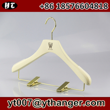 deluxe wooden clips hanger white wood dress hanger