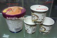 14 oz frozen ice cream cups with paper lid