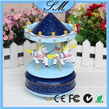 Decoration Wooden music box carousel for gift