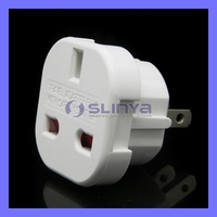 White High Quality 10A/16A 240V US Travel Adapter Plug With Safety Shutter