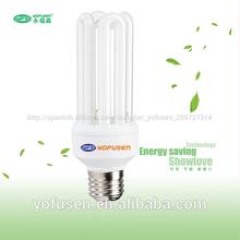 venta caliente de la lámpara fluorescente compacta cfl luces