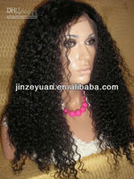 2013 JRL fashion brazilian virgin kinky curly full lace hairpiece wig made in china
