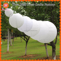 2015 wholesale cheap Chinese wedding decoration handmade indoor hanging round paper lanterns for wedding party decoration