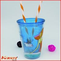 Free ship, 9inch FDA Proved Orange White Clip strip straws | BPA free