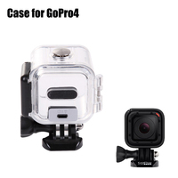 2015 Housing gopro4 Protective Waterproof Case Cover new camera waterproof case for Go Pro Hero4 Session