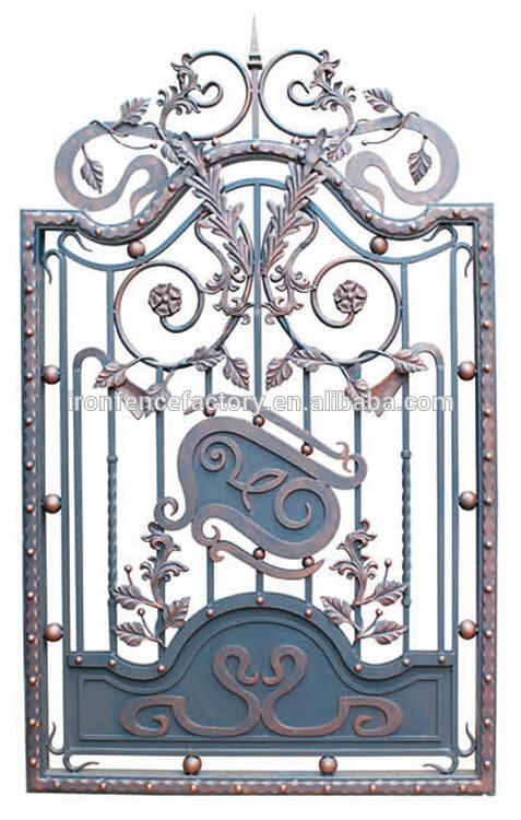 Yishujia manufacturer 2016 simple modern steel gate design for Modern gate designs wood and steel