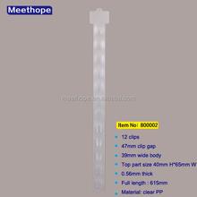 Retail & Wholesale Plastic Clip Strip 12