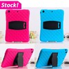 bling Diamond rugged heavy duty 7 inch tablet silicone case for iPad mini 123 shockproof stand cover