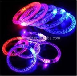 Free Shipping Beautiful Party Acrylic Flashing Multicolor Bracelet LED Ring Light