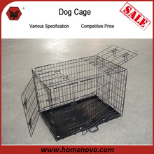Competitive Price Top Quality Anti-rust 3 Doors Heavy Duty 61x46x51cm Large Iron Dog Kennel For Sale