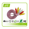 High performance 3rca transparent av cable for India