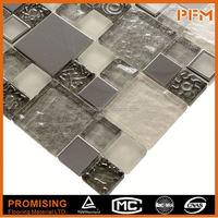 PFM Chinese popular luxury art mosaic puzzle shape backsplash mosaic tile for hotel&villa project design