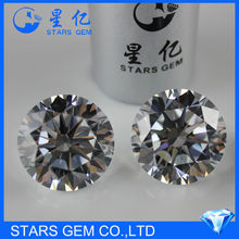 diamond standard 4c top quality large round white color 8mm cubic zirconia