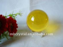Plain Yellow crystal ball MH-Q0022