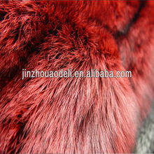 silver blue fox fur skin